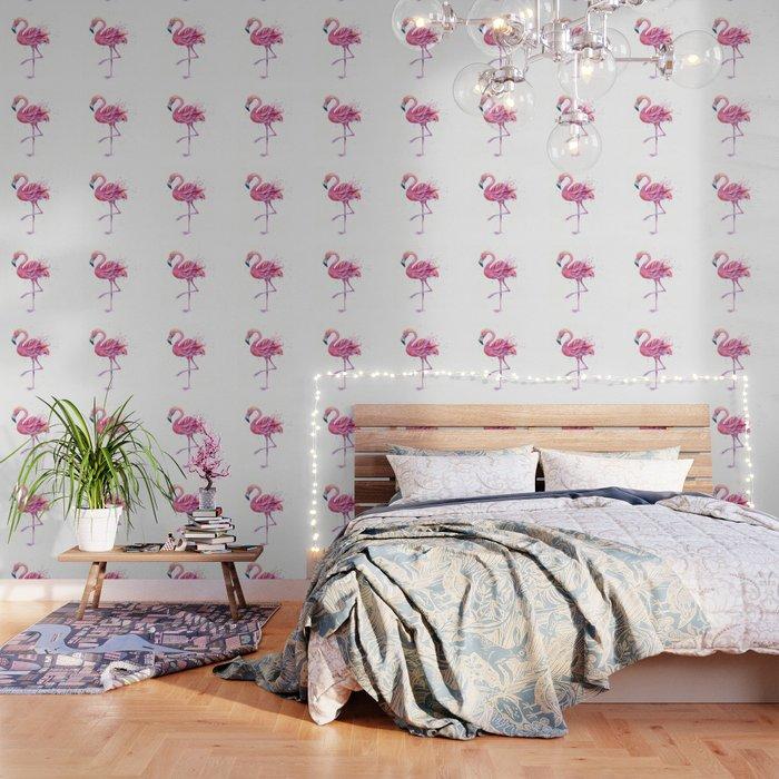 Fancy Pink Flamingo Wallpaper