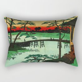 Mokubo Temple on Uchi River Japan Rectangular Pillow
