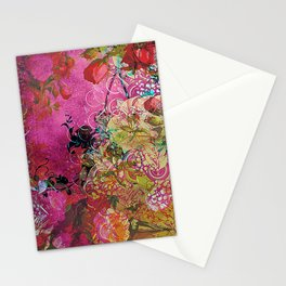 Silk Pink Floral Stationery Cards