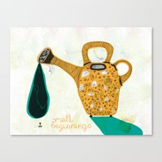 Don't forget the small beginnings Canvas Print