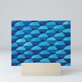 Fish 101 shades of blue Mini Art Print