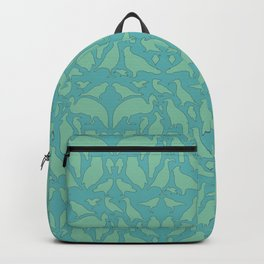 Bird Silhouettes - Teal Backpack