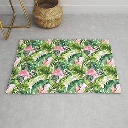 Flamingo Tropical    #pattern #tropical Rug