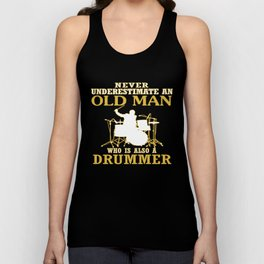 Old Man - A Drummer Unisex Tank Top