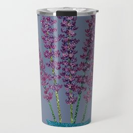 Lavender stems (bluegrey) Travel Mug