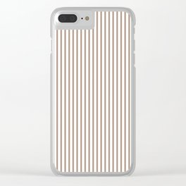 Warm Taupe Stripes Clear iPhone Case