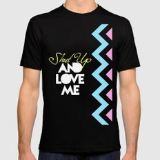 SHUT UP AND LOVE ME © PURPLE LIMITED EDITION for IPHONE MEDIUM Mens Fitted Tee Black