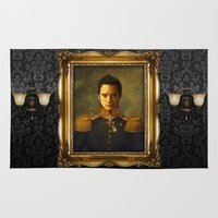 replaceface Area & Throw Rugs featuring Elijah Wood - replaceface by replaceface