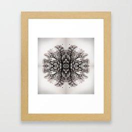 Winter Storm Ink Blot Framed Art Print