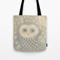 starry night Tote Bags featuring Starry Night by Eric Fan