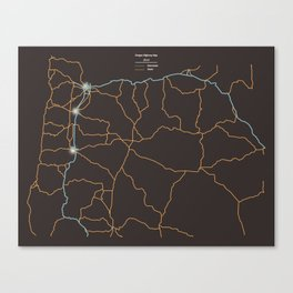 Oregon Highways Canvas Print