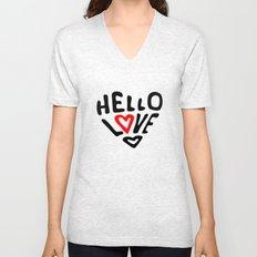 Hello Love Unisex V-Neck