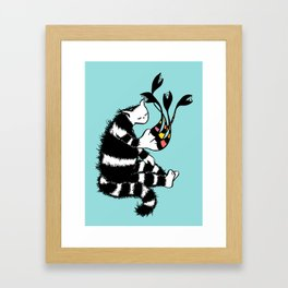 Weird Cat Character With Strange Paw Framed Art Print