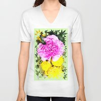 blossom V-neck T-shirts featuring Blossom by Art-Motiva