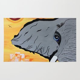 Elephant in the sun Rug