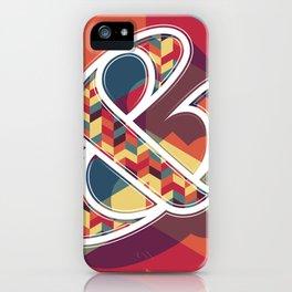Chevron Ampersand iPhone Case