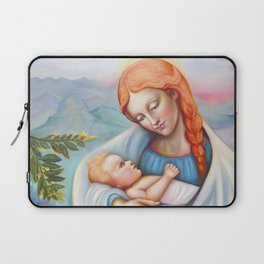 Maria and child. Madonna Laptop Sleeve