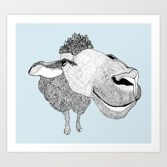 Sheepy Art Print