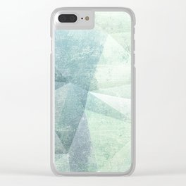 Frozen Geometry - Teal & Turquoise Clear iPhone Case