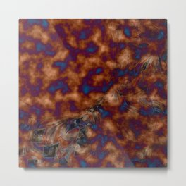 Brown vibration Metal Print