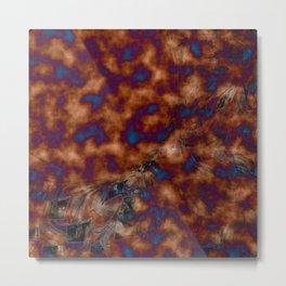 Brown vibration Metal Print