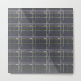Rosewall plaid Metal Print