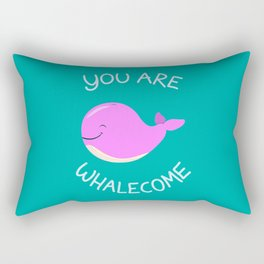 Whale, thank you! -Pink Version Rectangular Pillow