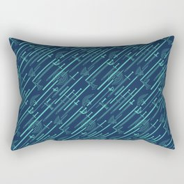 Sword Pattern - BLUE Rectangular Pillow