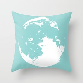 abstract moon Throw Pillow