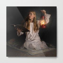 Reading After Bedtime Metal Print