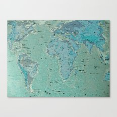 Let's Travel The World Canvas Print