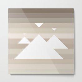 Sandscape Glow Metal Print