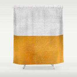 Wabi Sabi - Gold and Grey Texture Shower Curtain