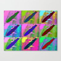 led zeppelin Canvas Prints featuring Zeppelin Warhol by Sara PixelPixie