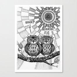 OWL TALK Canvas Print
