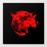 werewolf Canvas Prints featuring Werewolf by Badamg