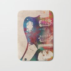 guitar art 1 Bath Mat