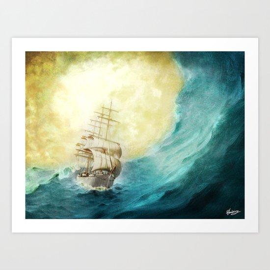 Through Stormy Waters Art Print