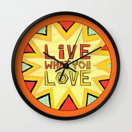 Motivation Quote - Orange Wall Clock
