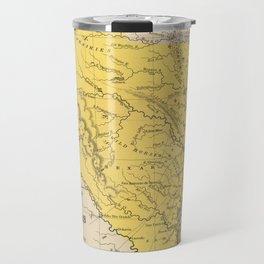 Vintage Map of Texas (1847) Travel Mug