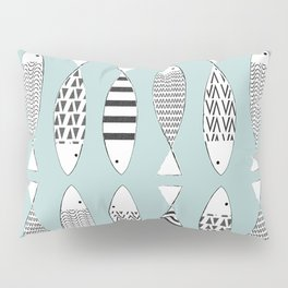 Nordic fish Pillow Sham