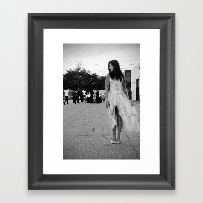 Emily In Video Framed Art Print