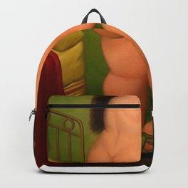 Botero nude woman Backpack