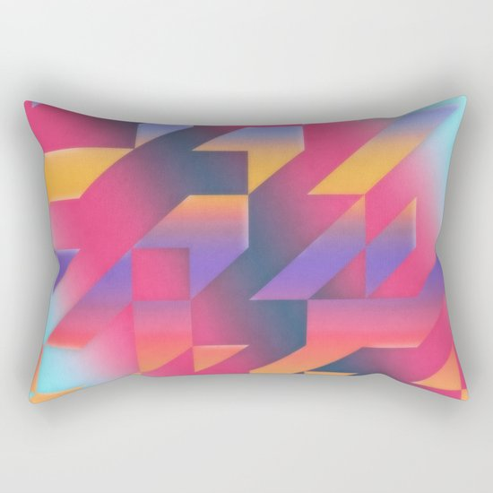 Gradient Harmonies Rectangular Pillow