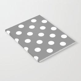 POLKA DOT DESIGN (WHITE-GREY) Notebook