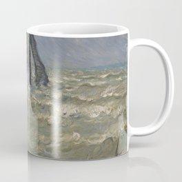 Rough Sea at Etretat - Claude Monet Coffee Mug