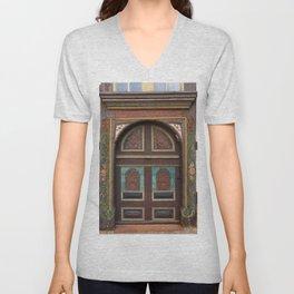 Door From Olden Times Unisex V-Neck