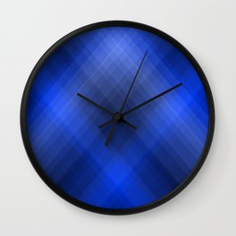 Dark Blue Lines Wall Clock
