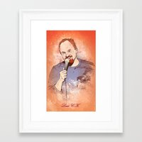 louis ck Framed Art Prints featuring Make Me Laugh - Louis CK by Andy Hunt