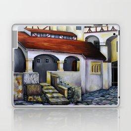 Dracula Castle - the interior courtyard Laptop & iPad Skin